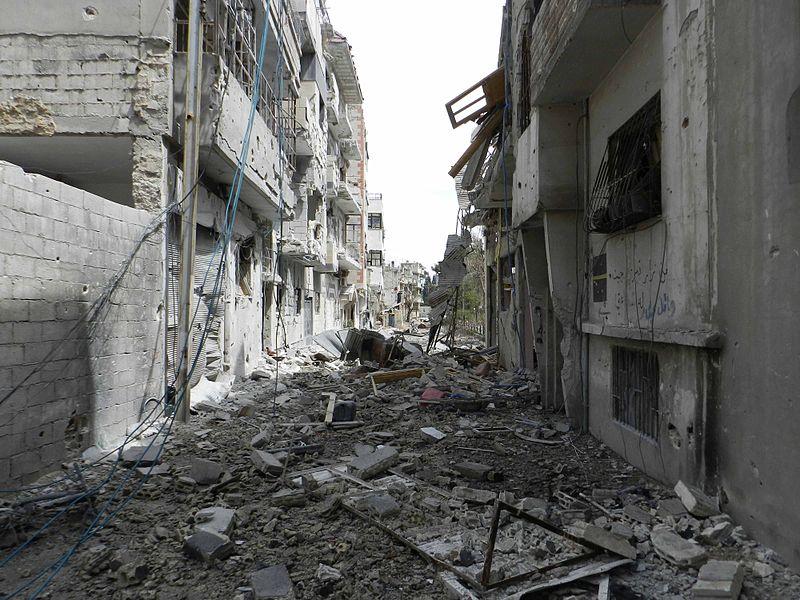 Destruction in Homs by Bo Yaser