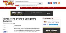 Taiwan China Caribbean