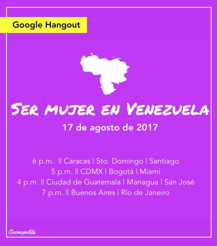 Webinar: Ser mujer enVenezuela